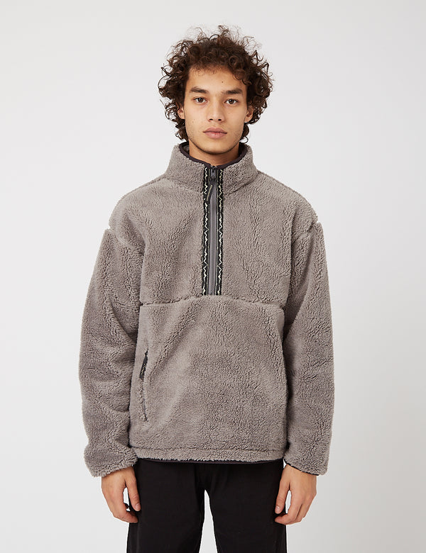 Manastash Big Foot Pullover Fleece - Grey