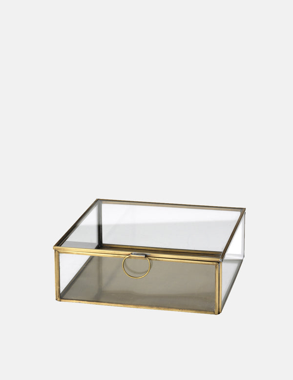 Broste Copenhagen Janni Box Medium  - Glass/Brass