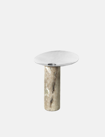 Broste Copenhagen Siggie Candlestick - Nickel Grey - Article