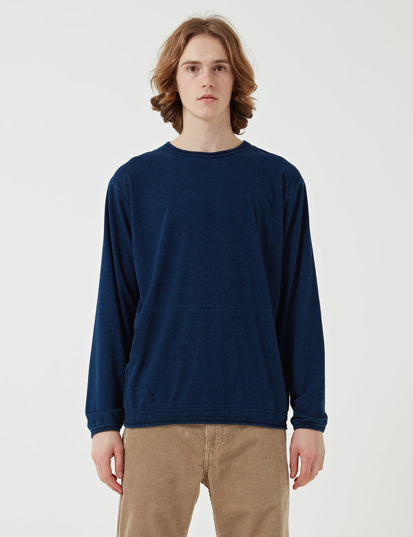 Manastash Snug Pile Sweat - Indigo Blue