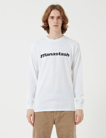 Manastash 90s Logo Long Sleeve II T-Shirt - White