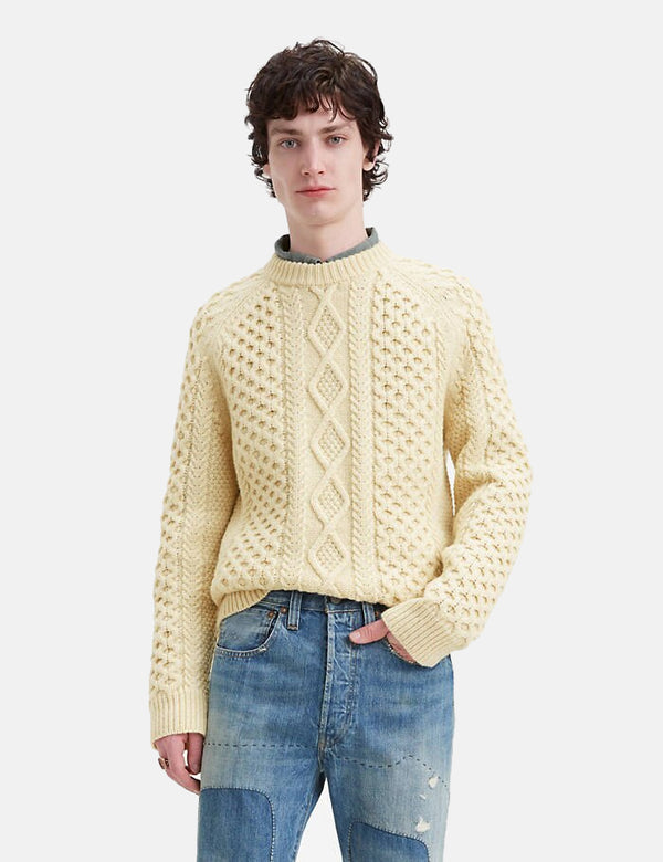 Levis Vintage Clothing Aran Knit Sweater - Creme Brulee
