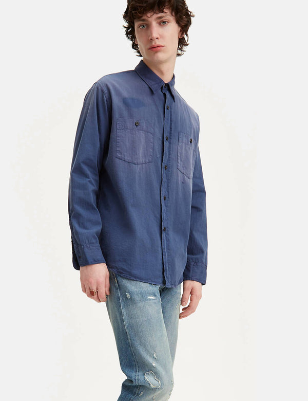 Levis Vintage Clothing 1950's Work Shirt - Dusty Blue