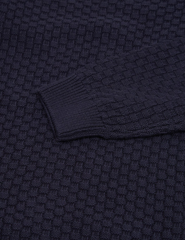 Armor Lux Textured Knit Jumper - Navy - Article