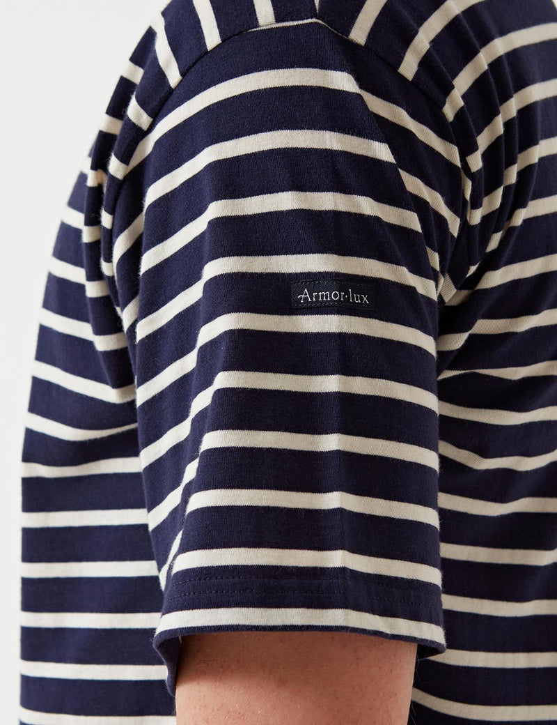 Armor Lux Theviec Breton T-shirt - Navy/Nature - Article