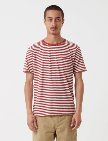 Armor Lux Heritage Breton T-Shirt - Rust Red/Ecru - Article
