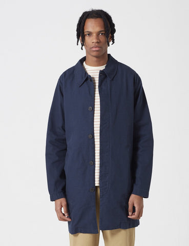 Armor Lux Heritage Trench Coat - Rich Navy Blue - Article