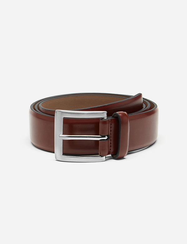 Dents Plain Leather Belt - Hellbraunes Leder