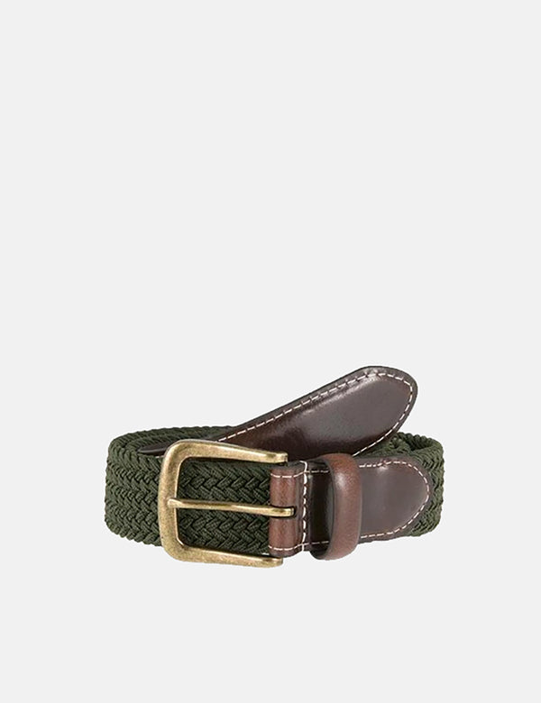 Dents Stretch Elastic Webbing Belt - Olive