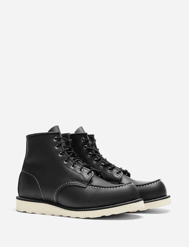 "Red Wing 6"" Moc Toe Boot 8130 (Leather) - Black Chrome"