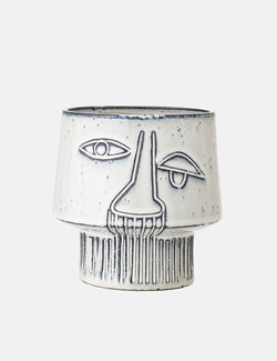 Bloomingville Flowerpot Stoneware (Face Impression) - Grey