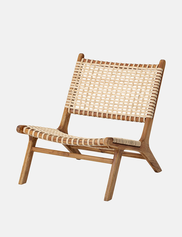 Bloomingville Keila Lounge Chair (Nature, Rattan) - Teak Wood