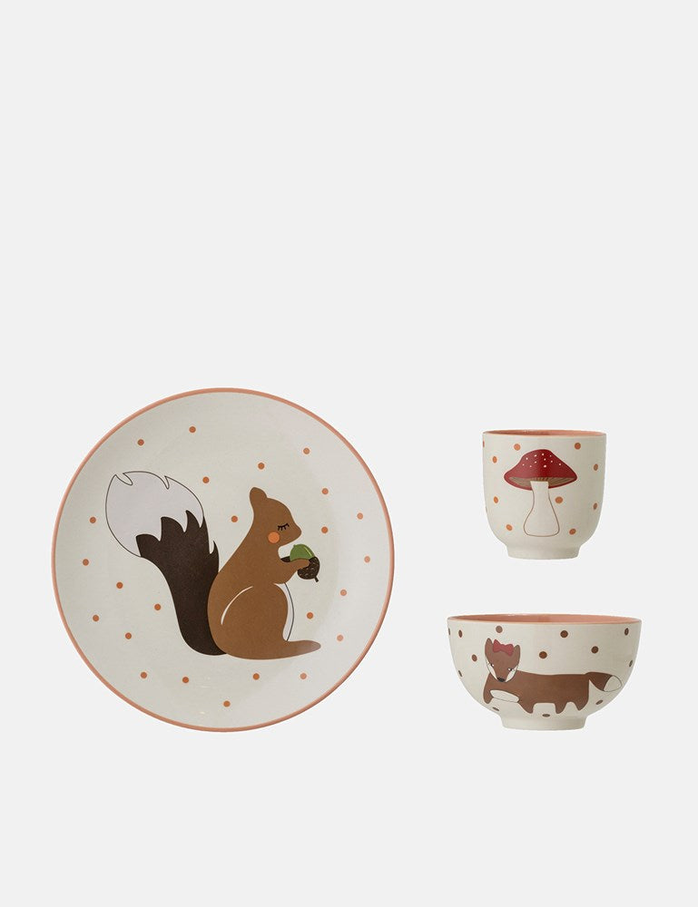 Bloomingville Forrester Serving Set (Stoneware) - Rose