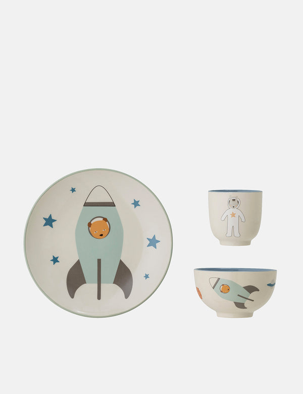 Bloomingville Space Serving Set (Stoneware) - Blue