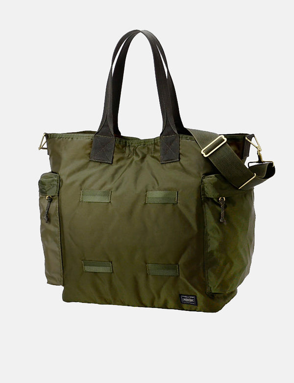 Tote Bag Force Two Way Porter Yoshida & Co - Olive Drab