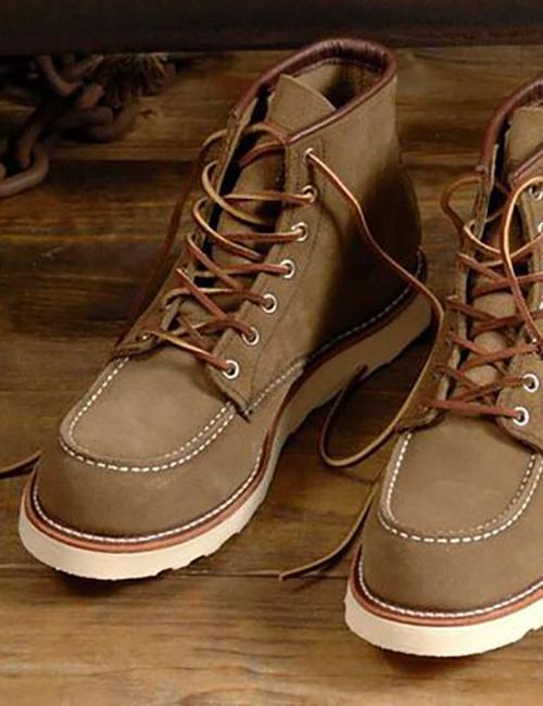 "Red Wing Heritage 6""Moc Toe Work Boots(8881)-オリーブグリーンモハベ"
