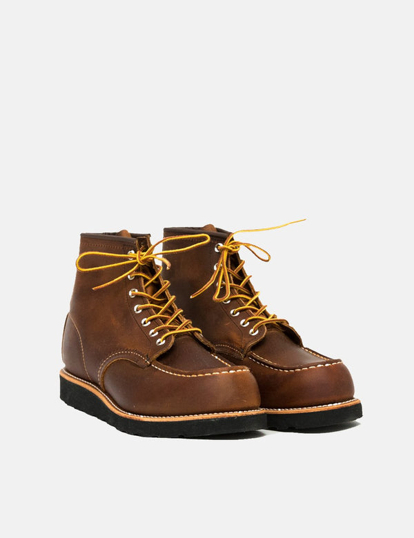 "Red Wing Heritage 6"" Moc Toe Boots (8886) - Copper Rough & Tough/Black Traction Sole"