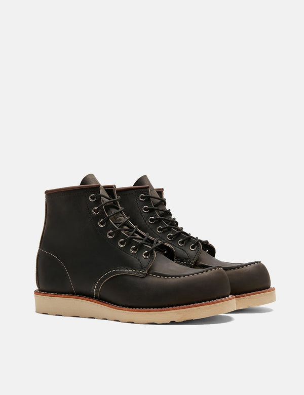 "Red Wing Heritage 8890 6"" Moc Toe Work Boots (8890) - Charcoal Grey"
