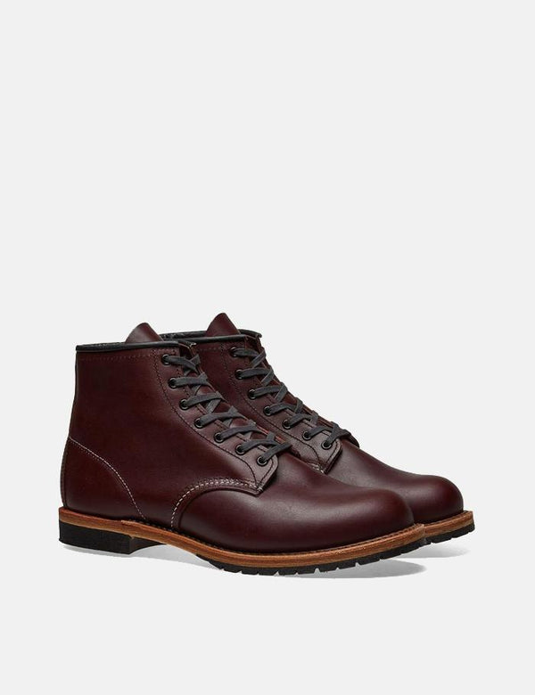 Red Wing Heritage Beckman Round Toe Bootss (9011) - Black Cherry Featherstone