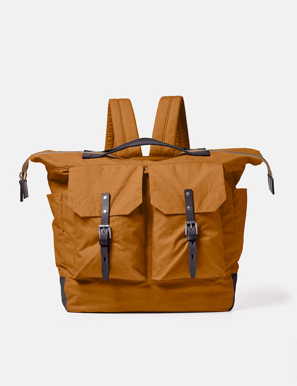 Ally Capellino Frank Waxed Cotton Rucksack (Large) - Breen
