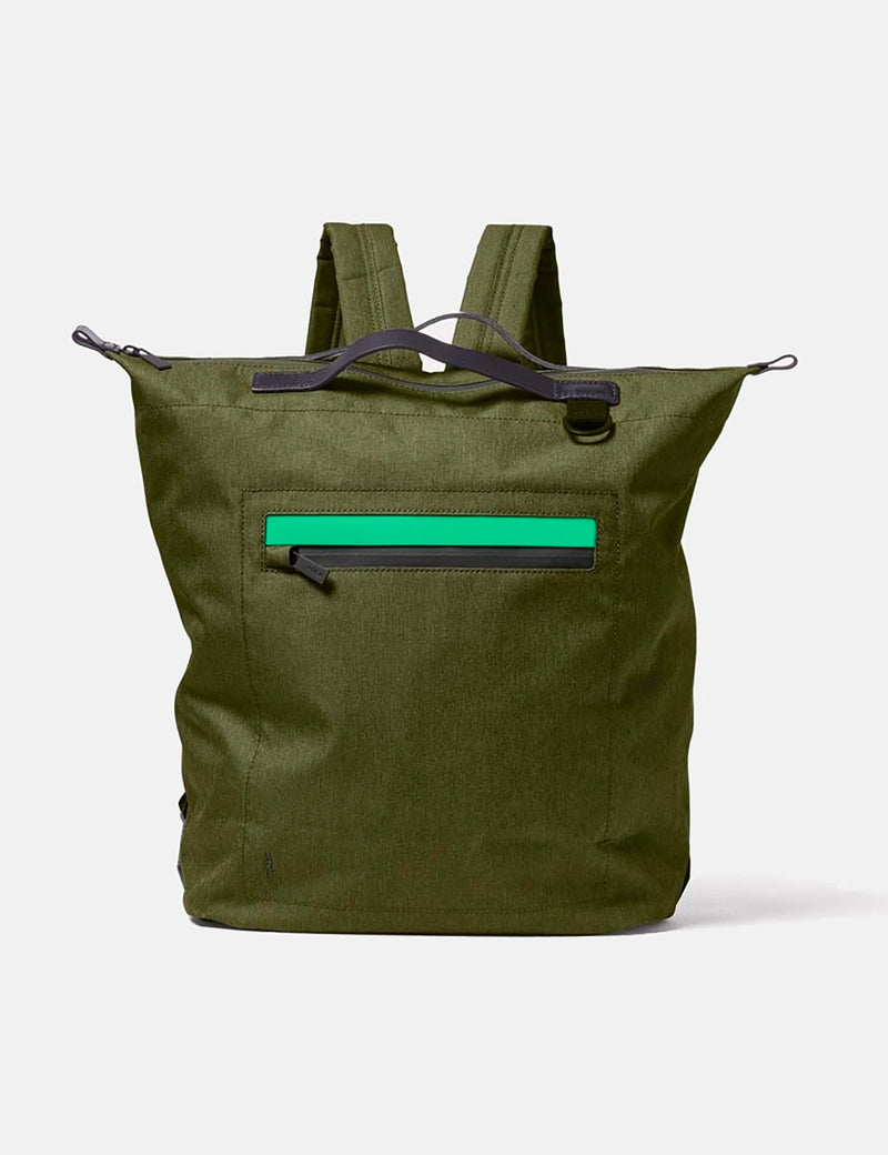 Ally Capellino Hoy Travel/Cycle Rucksack - Army Green