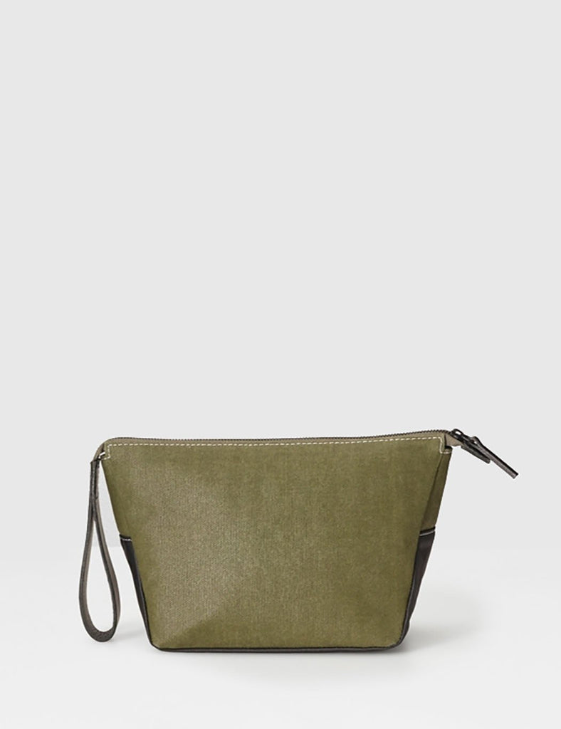 Ally Capellino Del Canvas Washbag - Green - Article