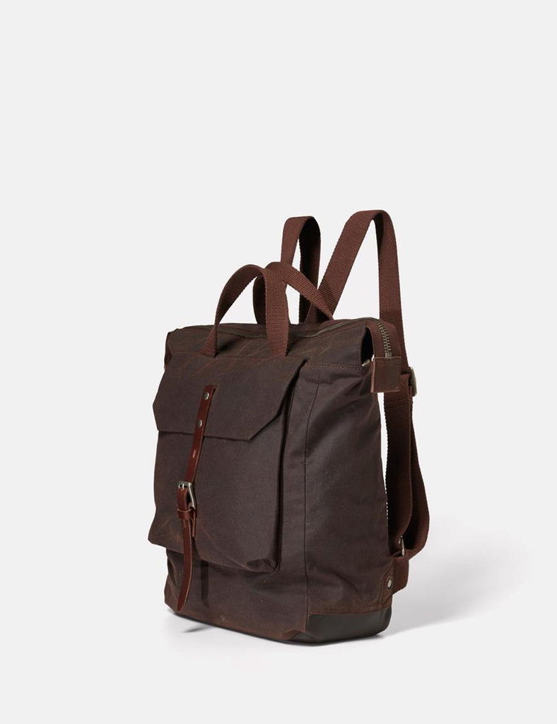 Ally Capellino Frances Waxy Backpack - Dark Brown - Article