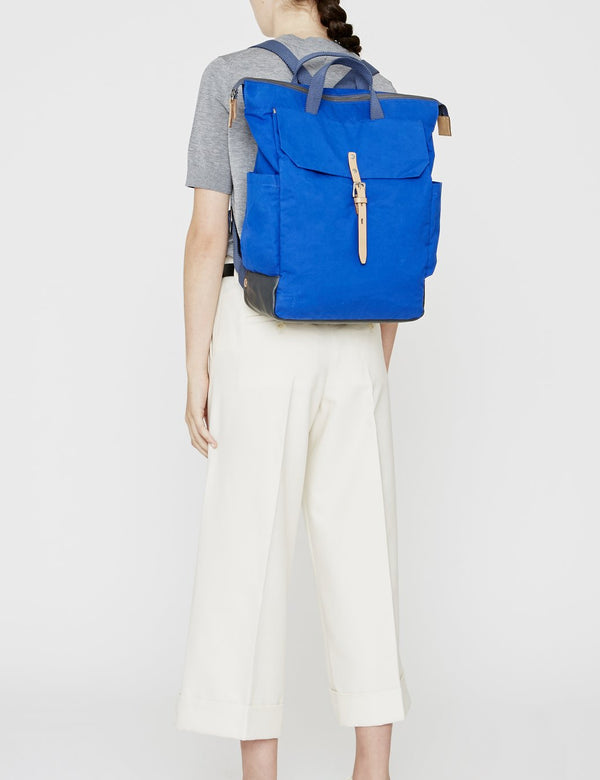 Ally Capellino Fin Waxy Backpack - Cobalt Blue