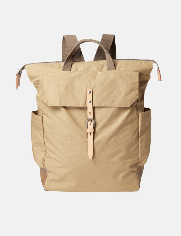 Ally Capellino Fin Waxy Backpack - Sand Beige - Article