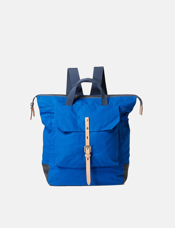 Ally Capellino Frances Waxy Backpack (Small) - Cobalt Blue