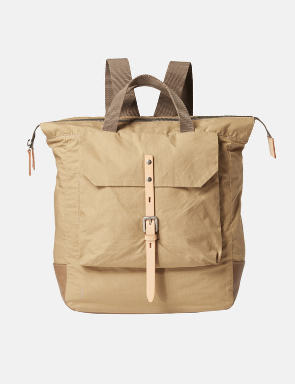 Ally Capellino Frances Waxy Backpack - Sand Beige - Article