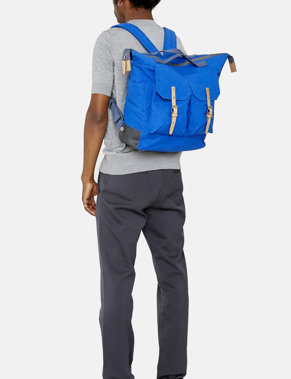 Ally Capellino Frank Waxy Backpack - Cobalt Blue