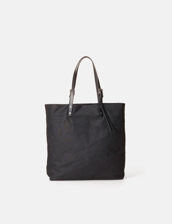 Ally Capellino Natalie Waxed Cotton Tote - Black