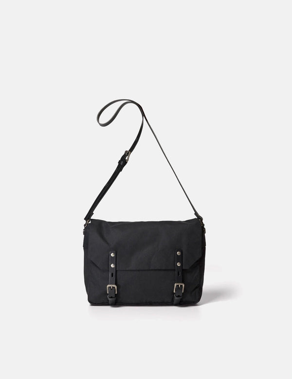 Ally Capellino Jeremy Waxed Cotton Satchel (Small) - Black