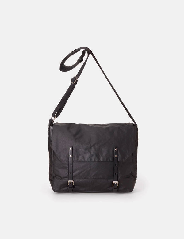 Ally Capellino Jeremy Waxed Cotton Satchel (Medium) - Black