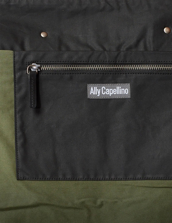 Ally Capellino Freddie Waxed Cotton Holdall - Black