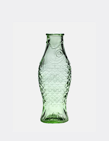 Serax Fish Bottle Glass  (1 L) - Green
