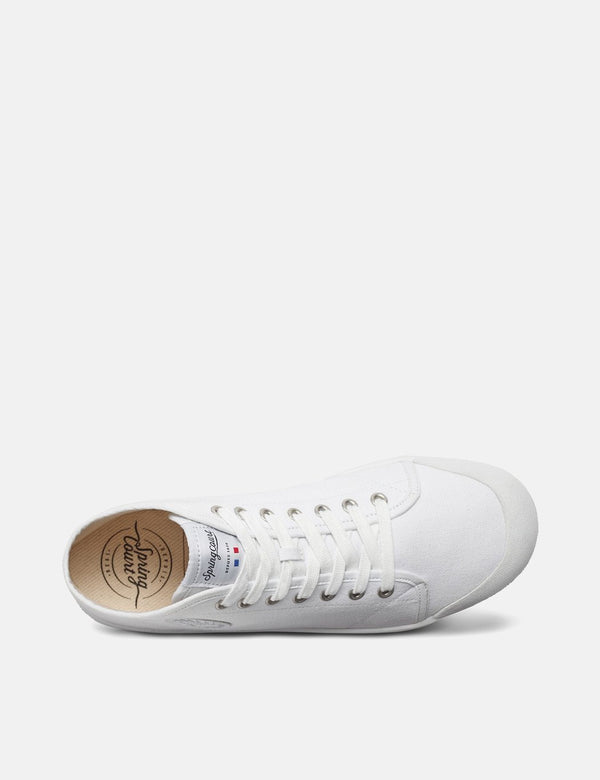 Spring Court B2 Hi Trainers (Canvas) - White