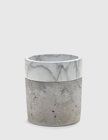 Serax Cylinder Marble Border Pot Large - Grey