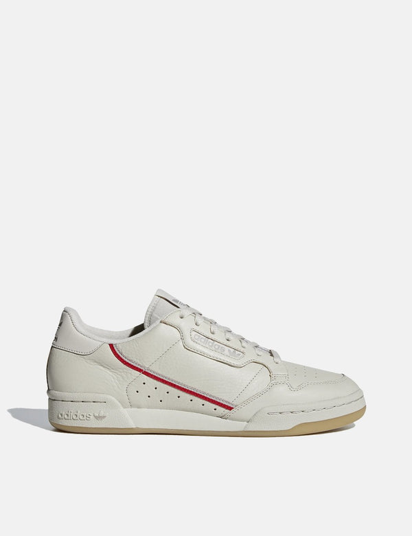 adidas Originals Continental 80 (BD7606) - Clear Brown/Scarlet/Ecru Tint