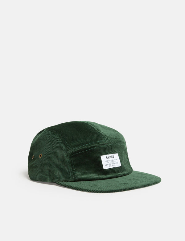 Bhode 5-Panel Cap (Cord) - Forest Green