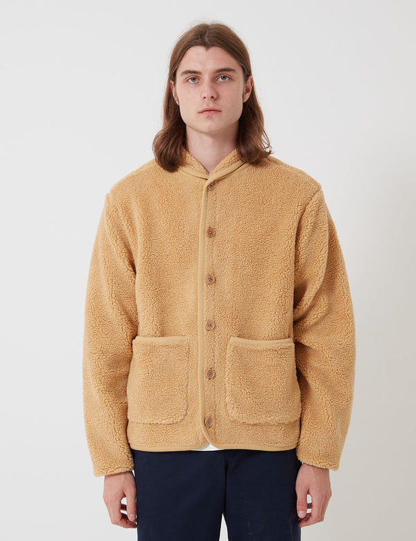 Bhode Fleece Work Jacket - Camel