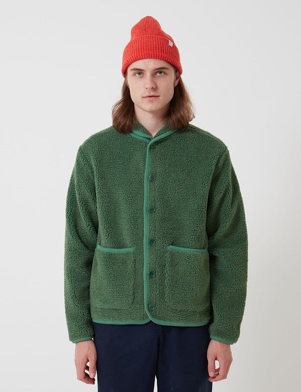 Bhode Fleece Work Jacket - Sage Green