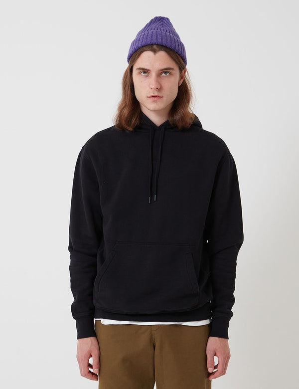 Bhode Oversized Pocket Hoodie - Black