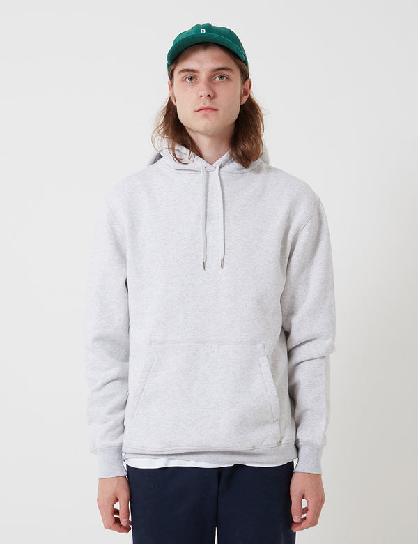 Bhode Oversized Pocket Hoodie - Grey Marl