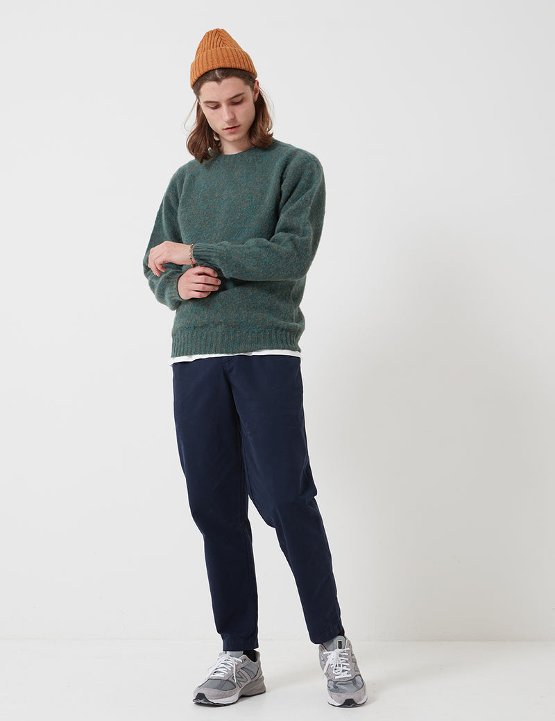 Bhode Supersoft Lambswool Jumper (Made in Scotland) - Jade Green