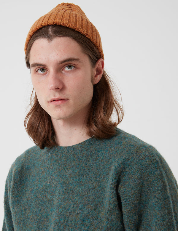 Bhode Lambswool Jumper(Made in Scotland)-ジェイドグリーン