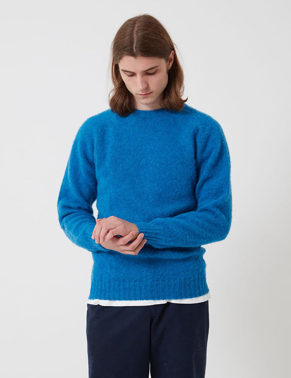Bhode Lambswool Jumper(Made in Scotland)-ニューブルー