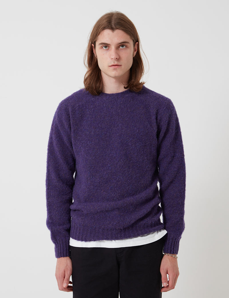 Bhode Supersoft Lambswool Jumper (Made in Scotland) - Royal Violet