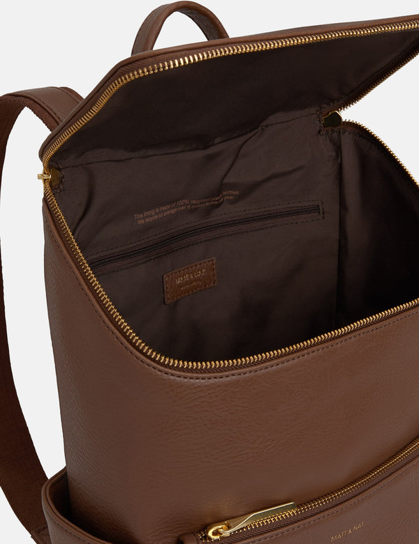 Matt & Nat Brave Backpack - Brick Brown